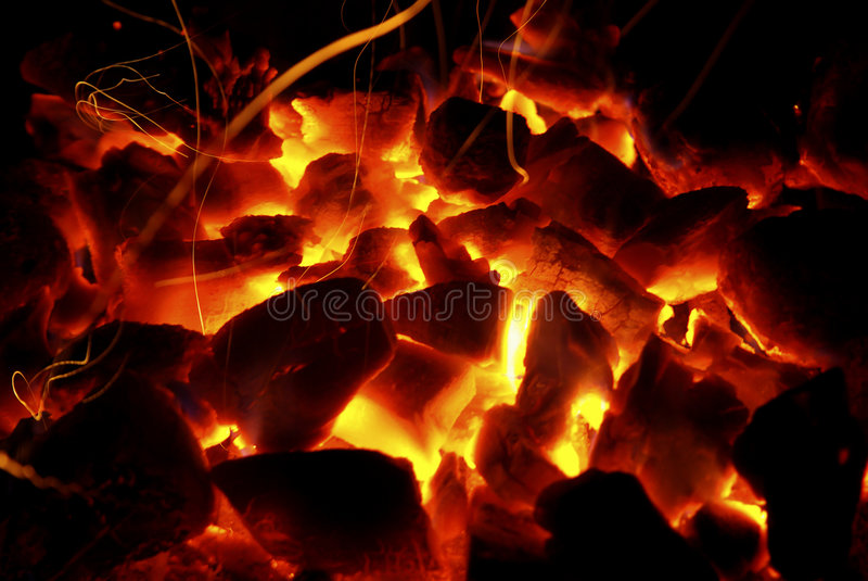 Hot Coals Royalty Free Stock Photography