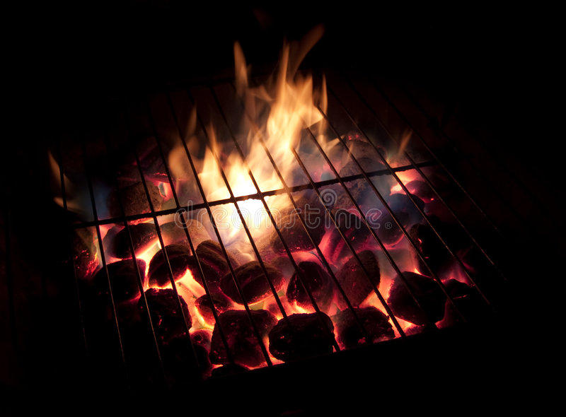 Hot Coals, Long Exposure stock photography