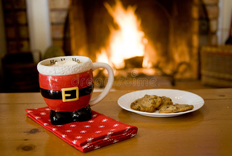 Download Hot Cocoa & cookies stock image. Image of cookie, santa - 11998339