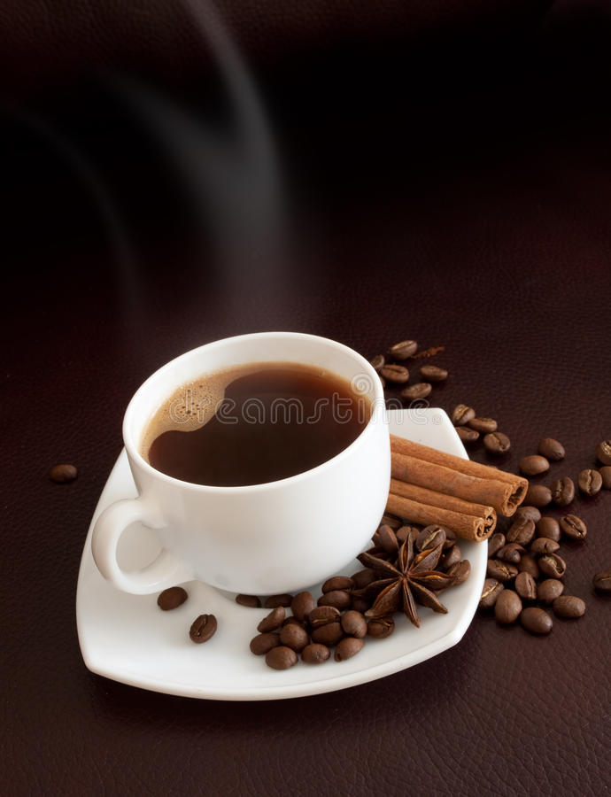 Hot coffee stock image