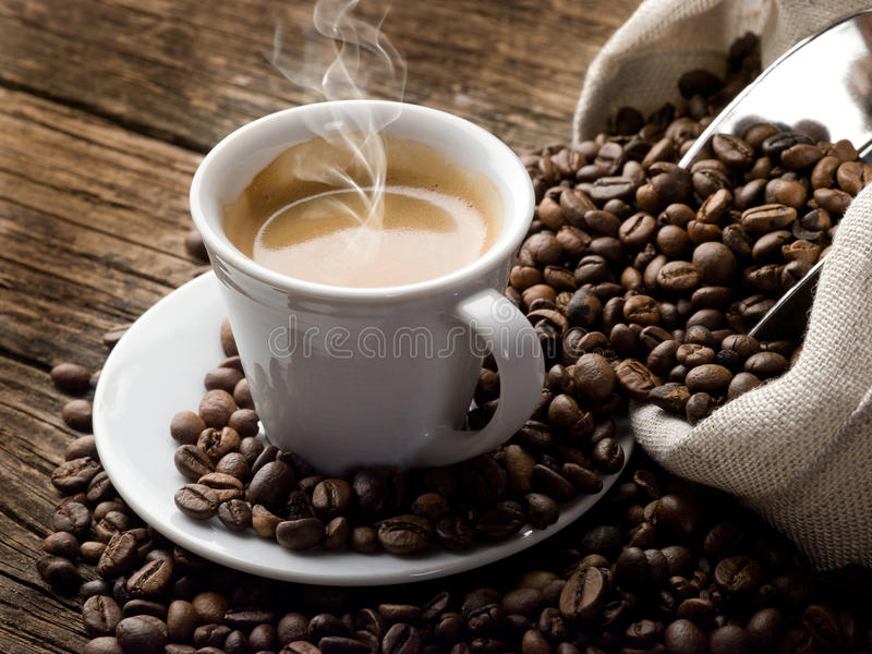 Download Hot  coffee stock photo. Image of taste, steam, fresh - 19499408
