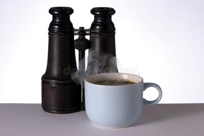 Download Hot Coffee and Binoculars stock image. Image of beens, fresh - 503637