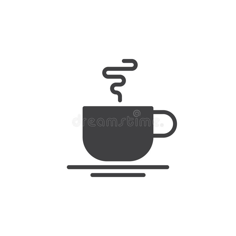 Hot Coffee Cup Icon Vector Filled Flat Sign Solid Pictogram