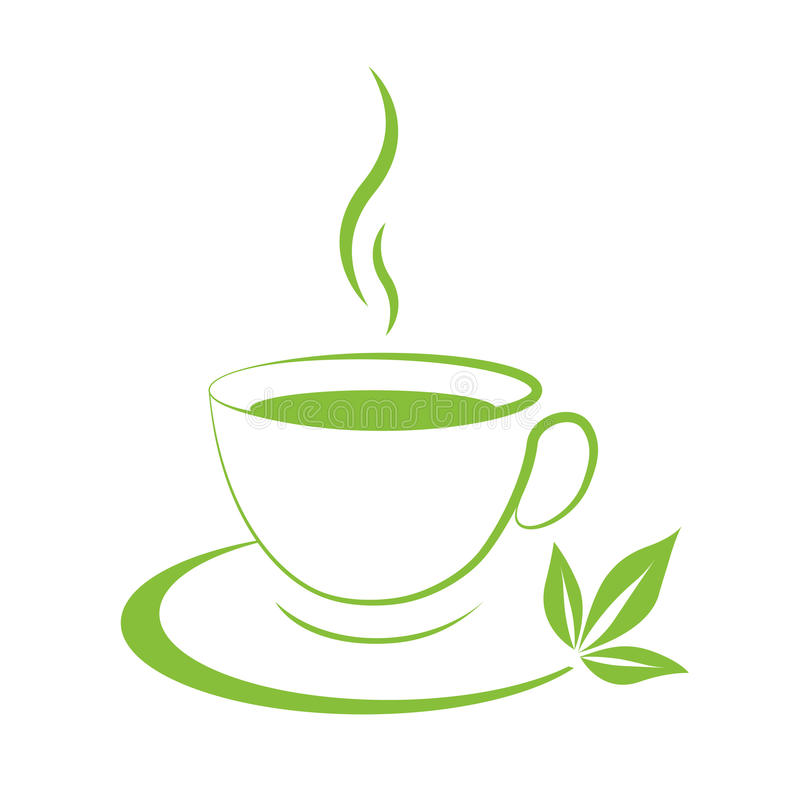 Hot coffee cup icon royalty free illustration