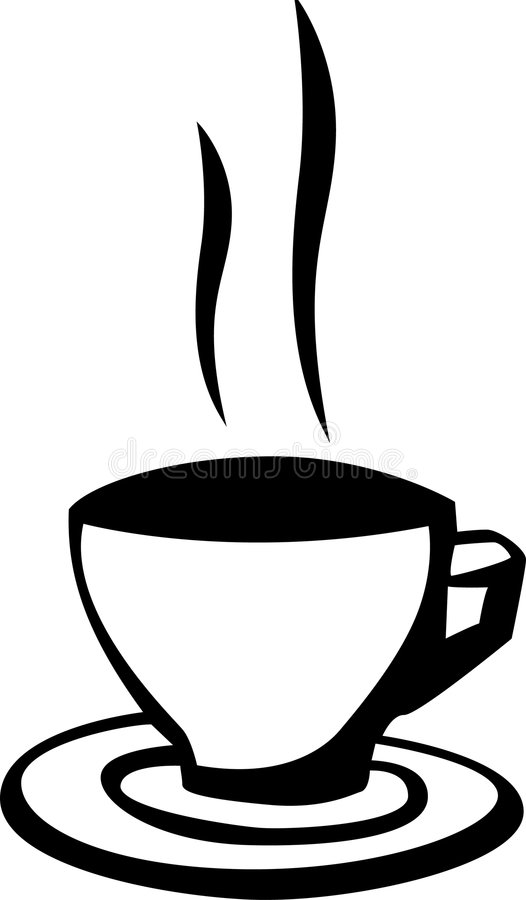Hot coffee cup vector illustration royalty free illustration