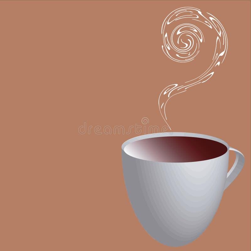 Hot Coffee Illustration royalty free illustration
