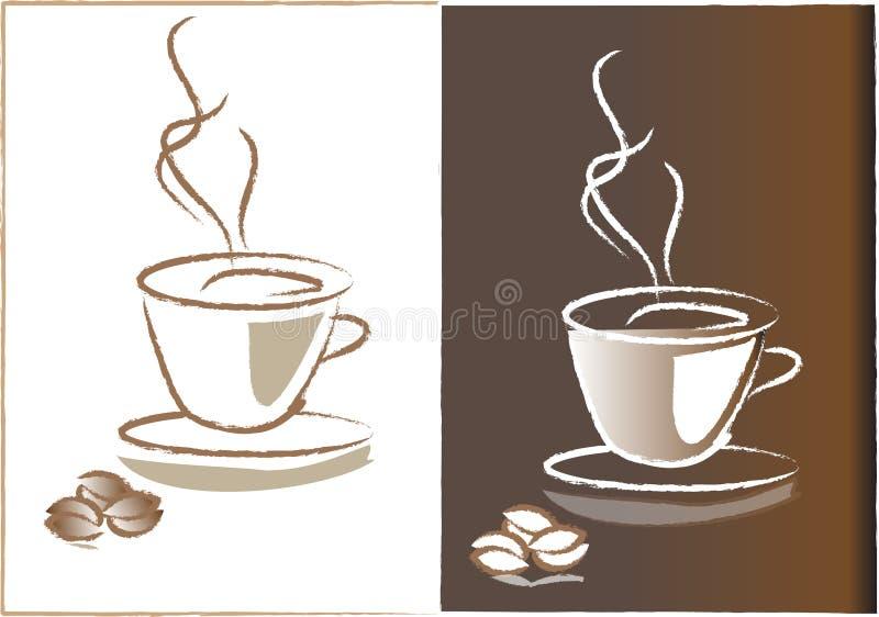Download Hot coffee releasing steam stock vector. Image of liquid - 35260040