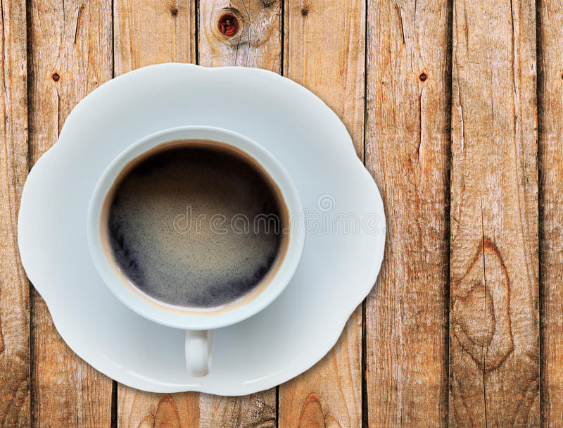 Download Hot coffee on wood texture stock image. Image of brewed - 26568097