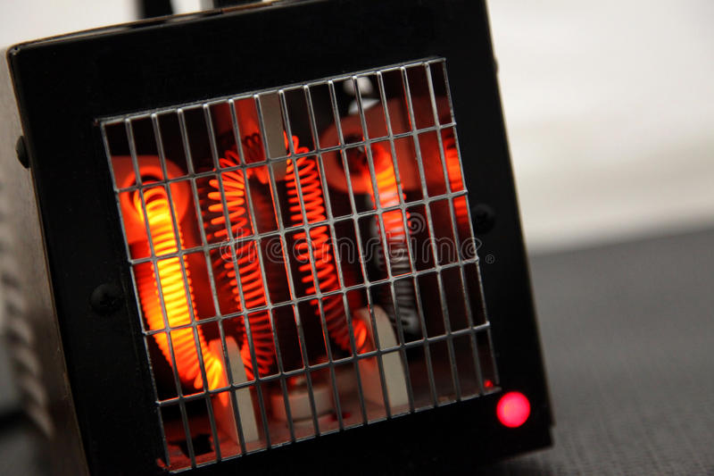 Hot Coils in a Space Heater stock images