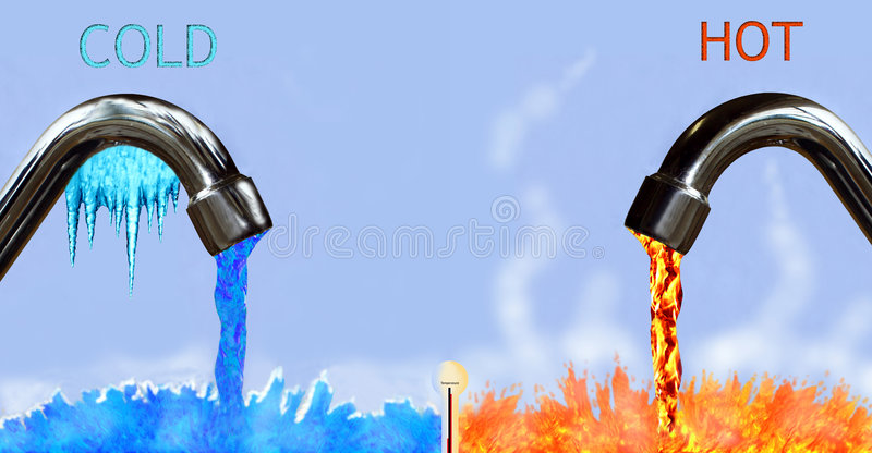 Download Hot and cold stock illustration. Image of fire, flow, different - 1858023