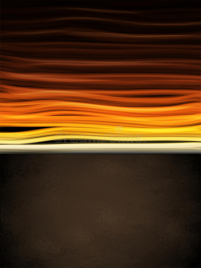 Hot Colors Stripes Background With Black Frame Stock Photo