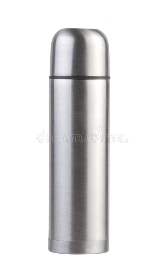 Hot And Cool Chrome Thermos Royalty Free Stock Images