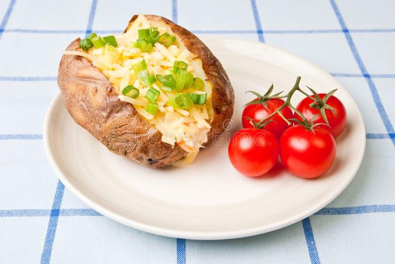 Hot and crispy baked potato royalty free stock photo