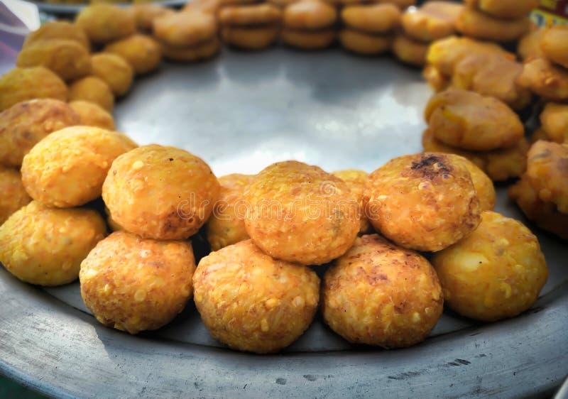 Hot and crispy vada pav stock image