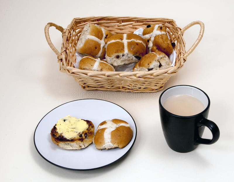 Hot-cross buns and a cup of tea.