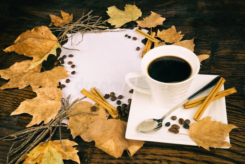 Hot cup of coffe royalty free stock image