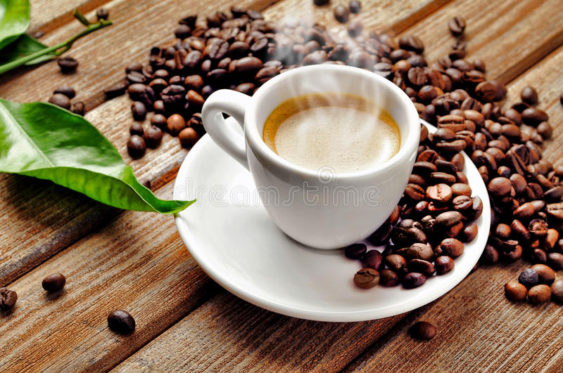 Download Hot Cup of coffee stock photo. Image of black, grain - 25316476