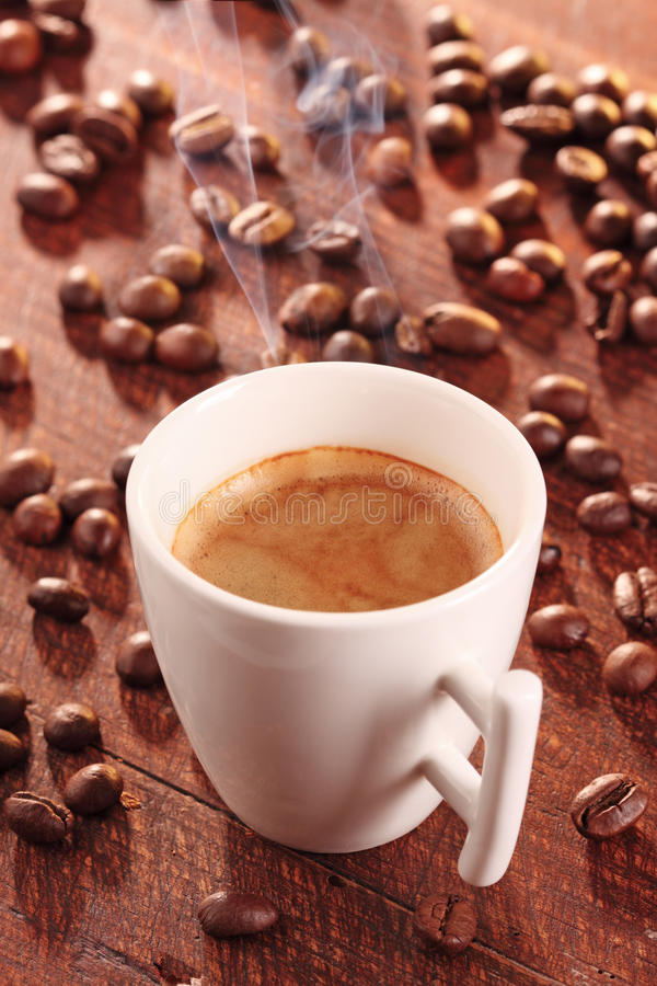 Download Hot Cup Of Coffee-espresso- With Smoke Stock Image - Image of cafe, pottery: 19978577
