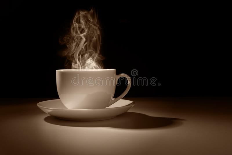 Hot cup of coffee or tea stock images