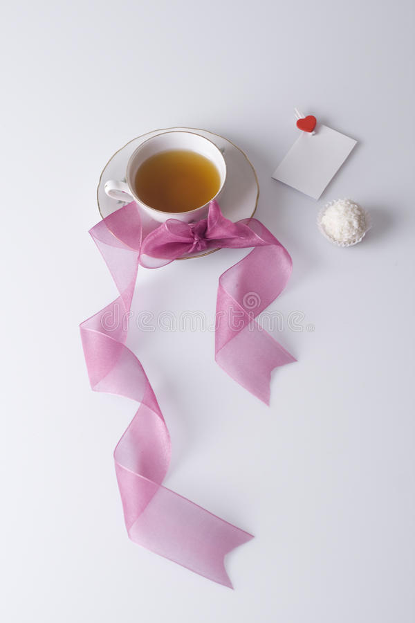 Download Hot Cup Of Tea With Love Note And Cookie Royalty Free Stock Photography - Image: 11774557