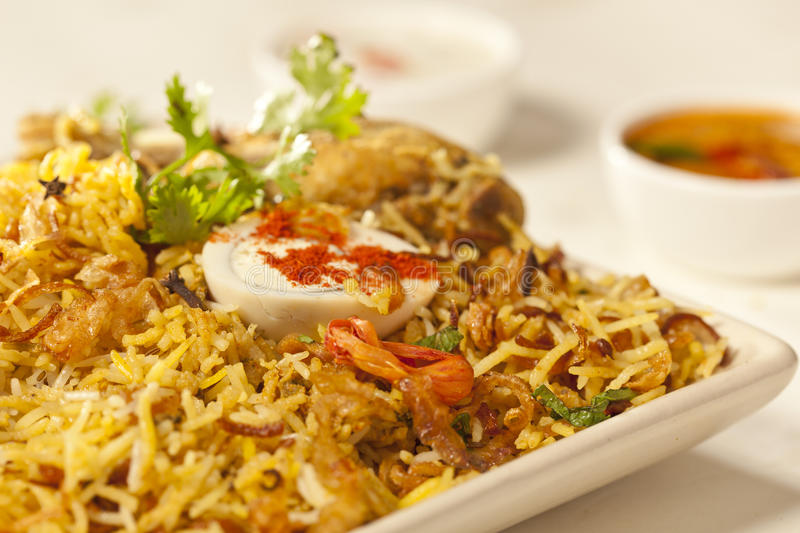 Hot delicious chicken biryani. royalty free stock images