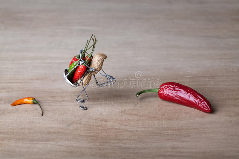 Hot Delivery stock photos