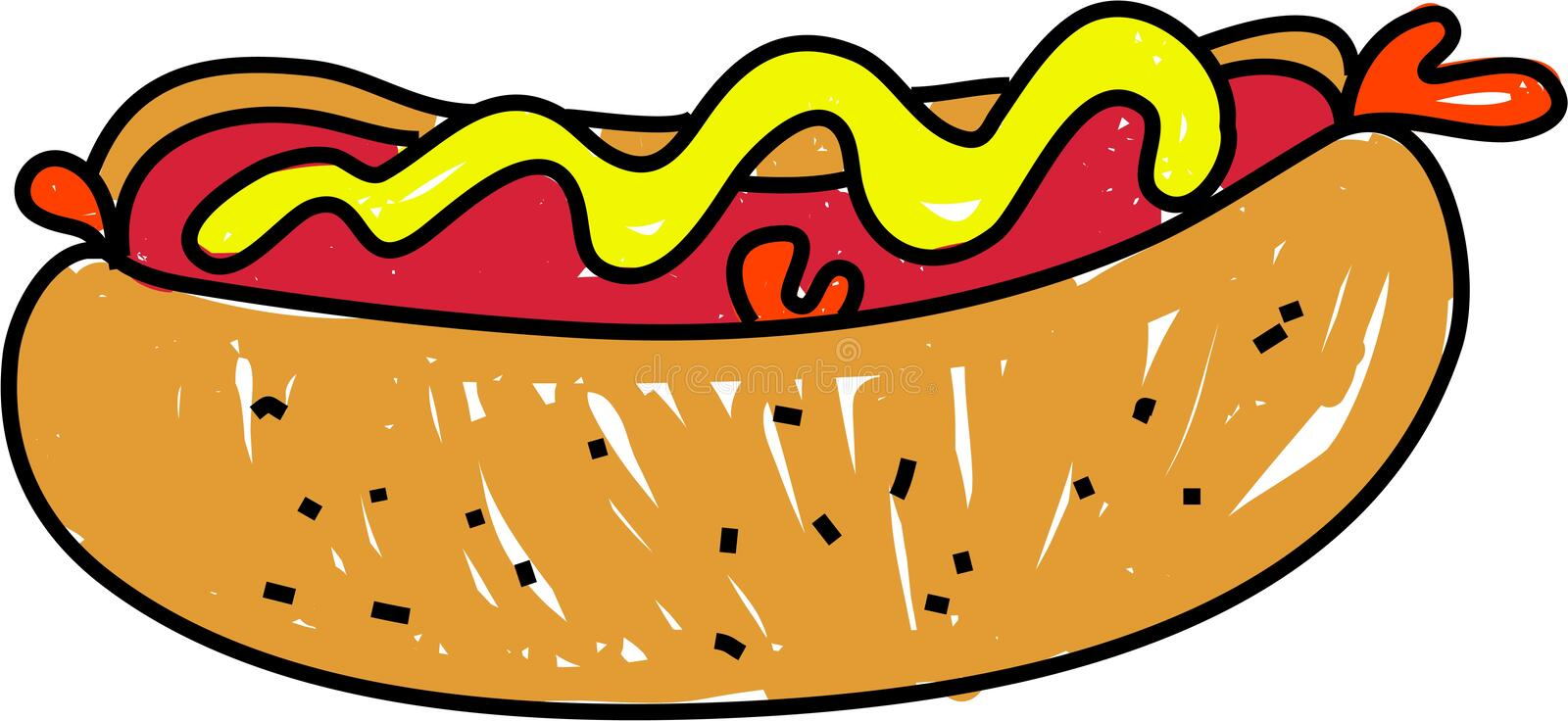 Hot dog illustrazione vettoriale