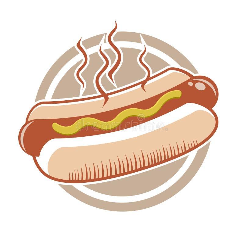 Download Hot dog stock illustration. Image of dinner, round, clip - 25828370