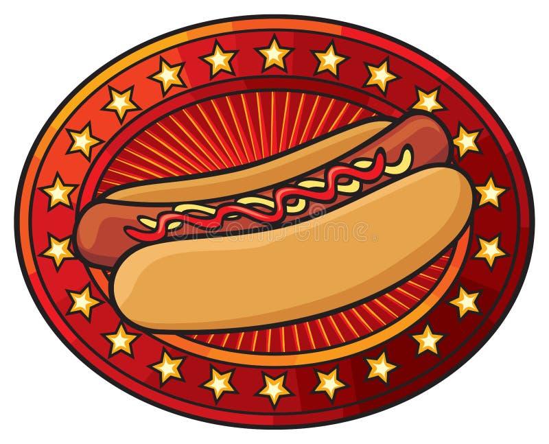 Hot dog ilustracji