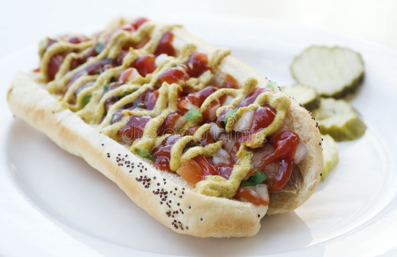 Hot-dog images libres de droits