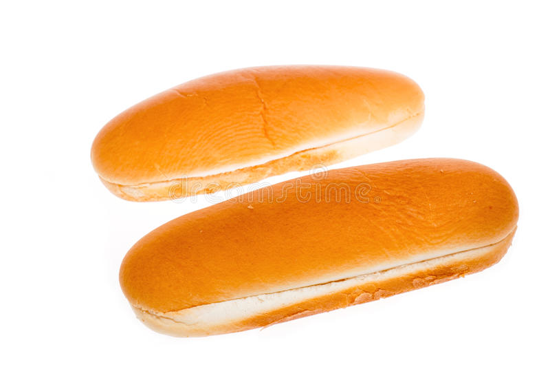 Hot Dog Bun. Bun for hot dog on white background stock images