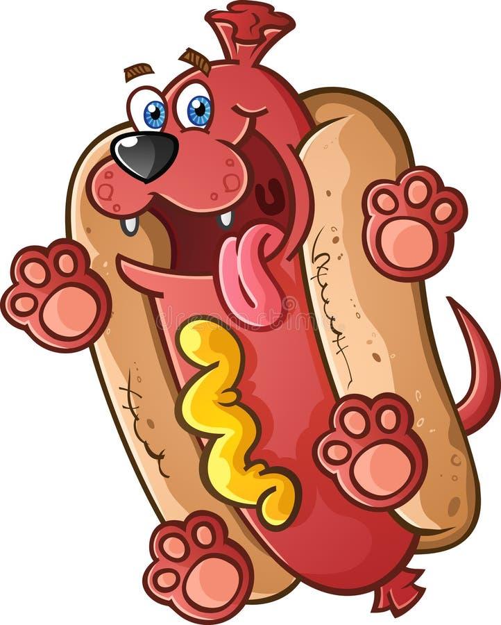 Hot Dog charakter ilustracja wektor