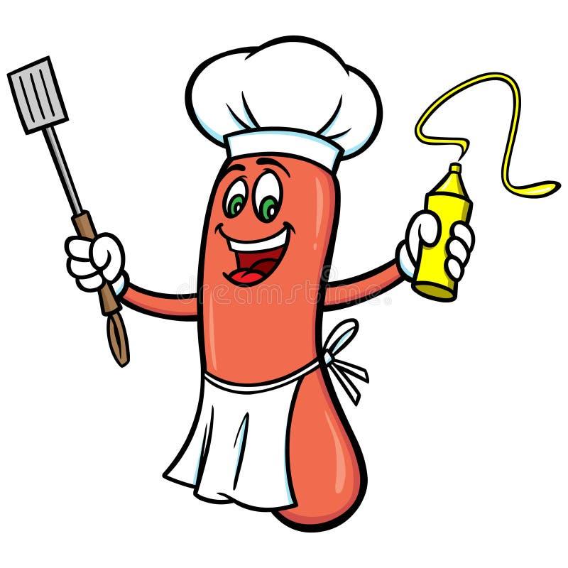 Hot Dog Cookout royalty ilustracja