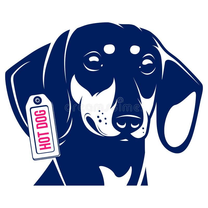 Hot dog del bassotto tedesco del cane illustrazione di stock