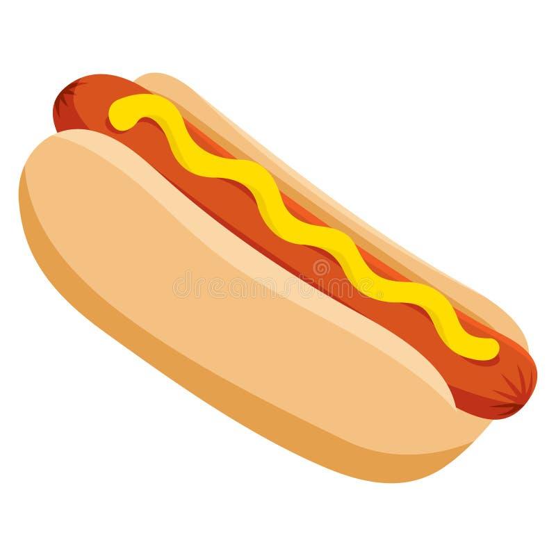 Hot dog di vettore royalty illustrazione gratis
