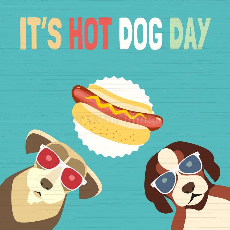 Hot dog dnia ikona ilustracja wektor