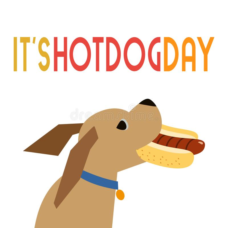 Hot dog dnia ikona royalty ilustracja