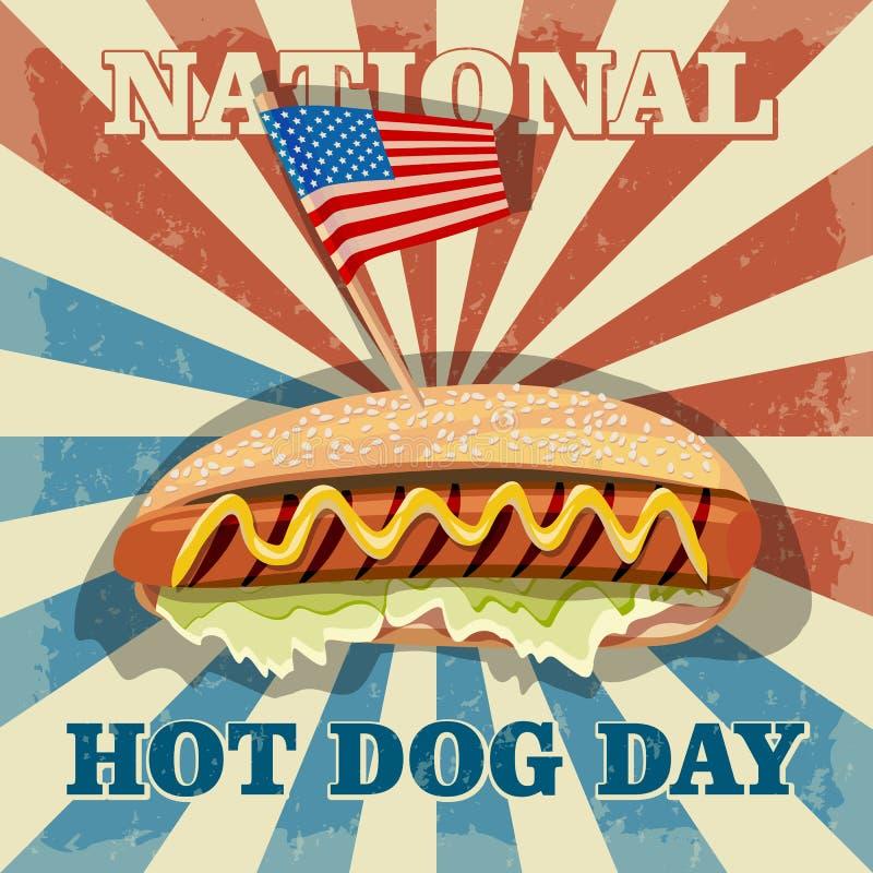 Hot dog dzień ilustracja wektor