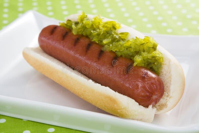 Hot-dog et goût photographie stock