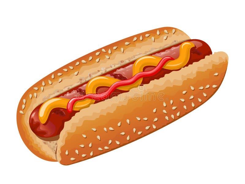 Hot dog royalty free illustration