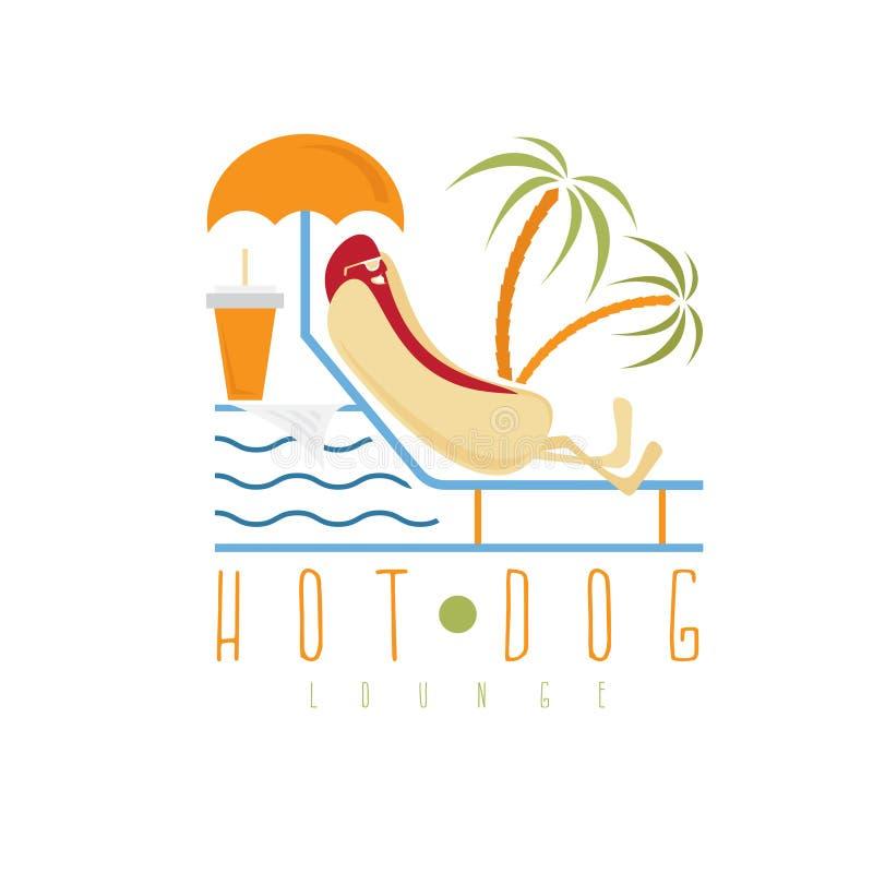 Hot dog holu pojęcia projekta szablon ilustracja wektor