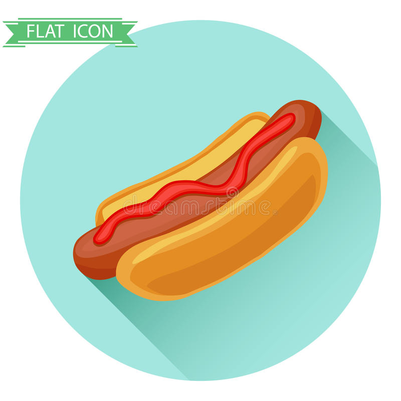 Hot Dog ikona ilustracja wektor