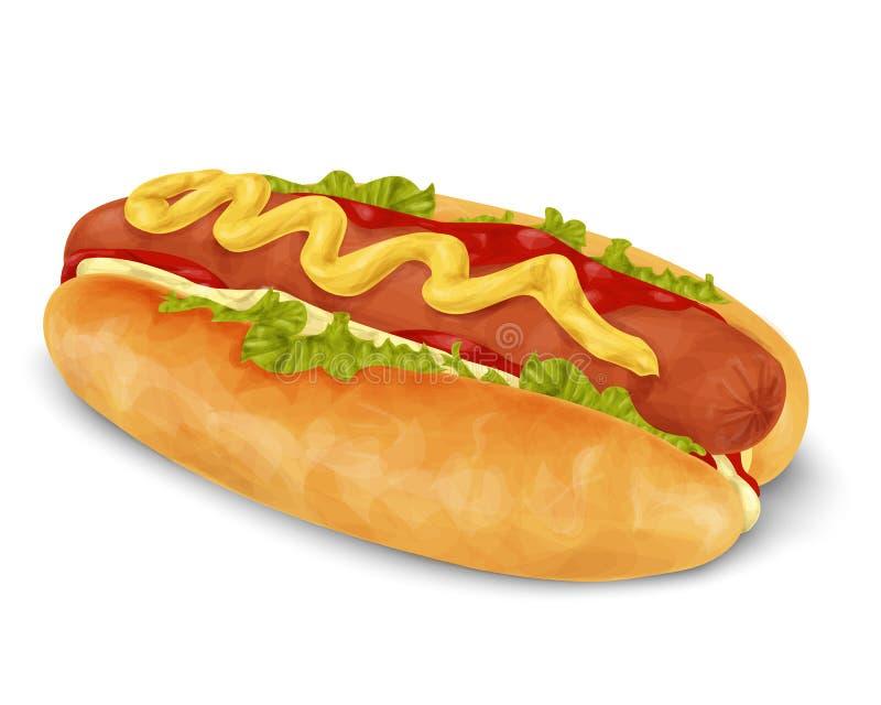 Hot dog isolato illustrazione vettoriale