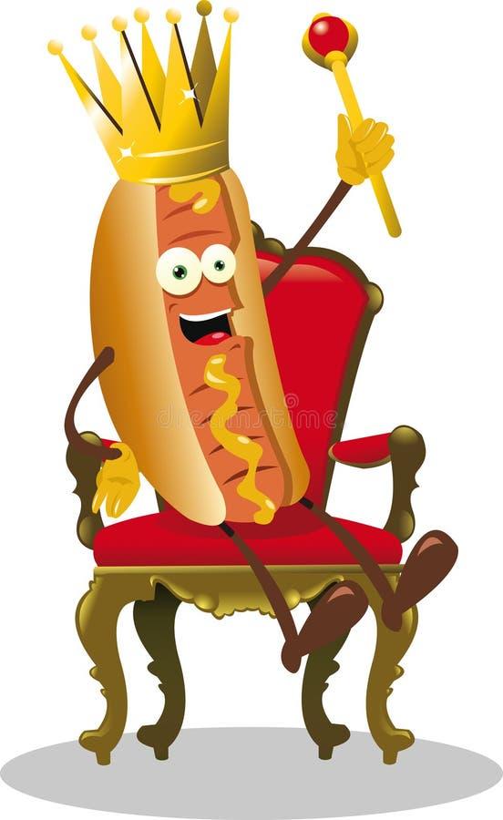 Hot Dog King vector illustration