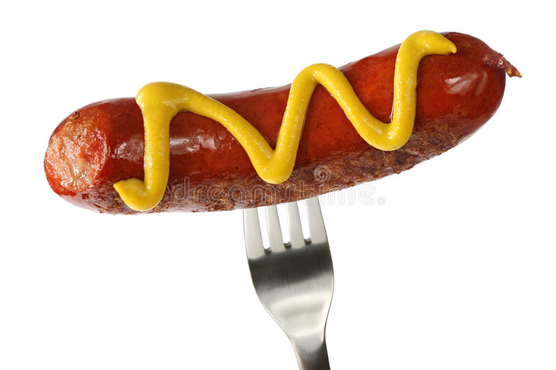 Hot Dog With Mustard stock images