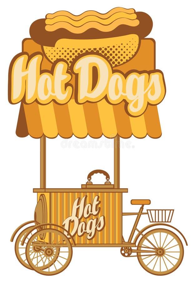 Hot dog na kołach ilustracja wektor