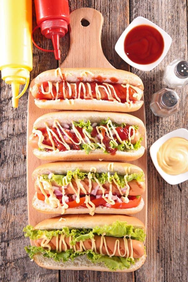 Hot dog na pokładzie obraz royalty free