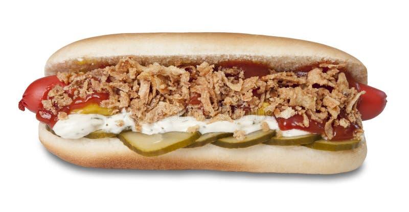 Hot dog originale danese fotografia stock