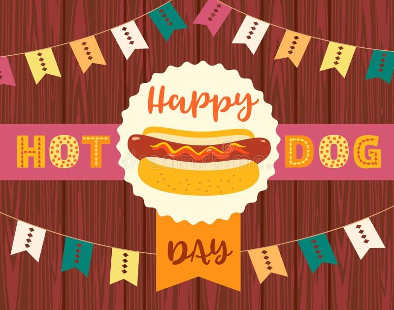 Hot dog pojęcie royalty ilustracja
