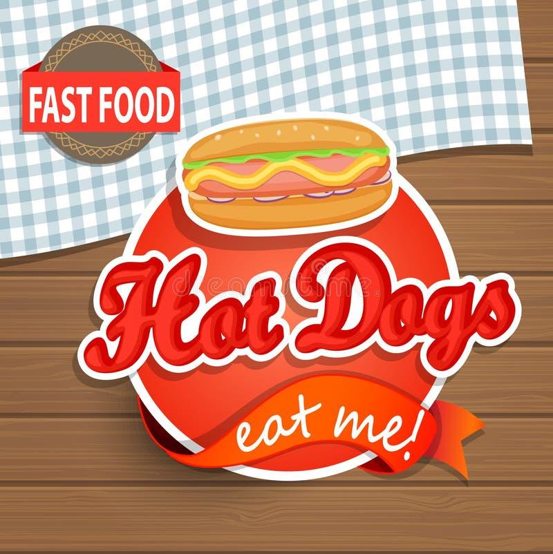 Hot dog pojęcie ilustracji